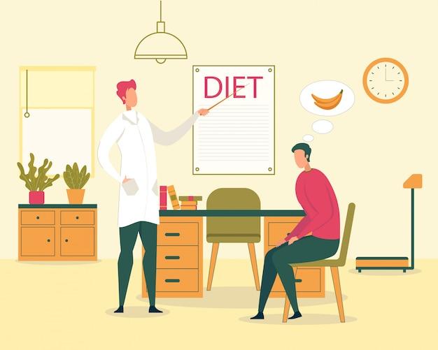Vegetarische ernährung, illustration für gesunde ernährung