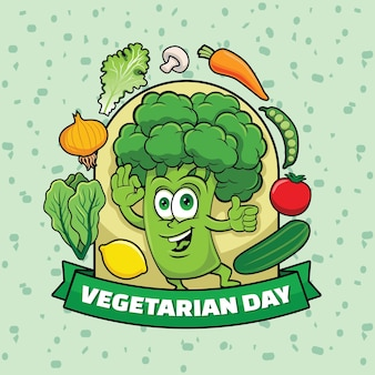 Vegetarischer tag gemüse und obst