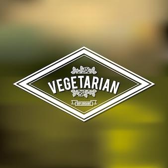 Vegetarisches essen design