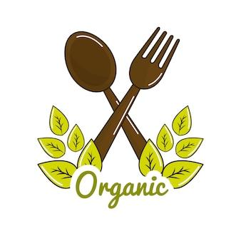 Vegetarisches essen symbol lager
