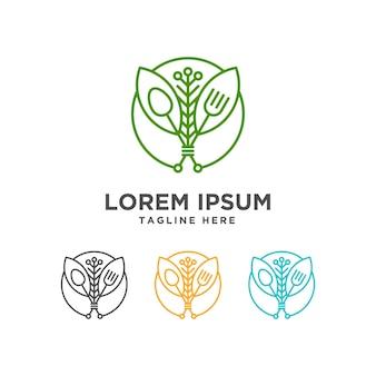 Vegetarisches resto-logo