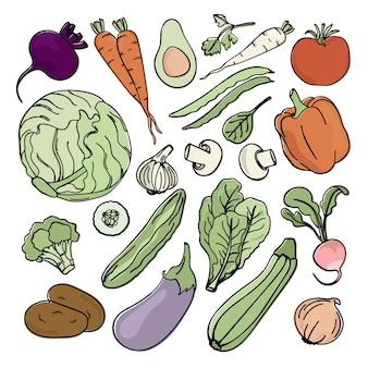 Vegetarisches set nutrition paleo natural diet