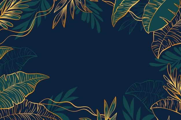 Vegetationshintergrund mit goldenen details