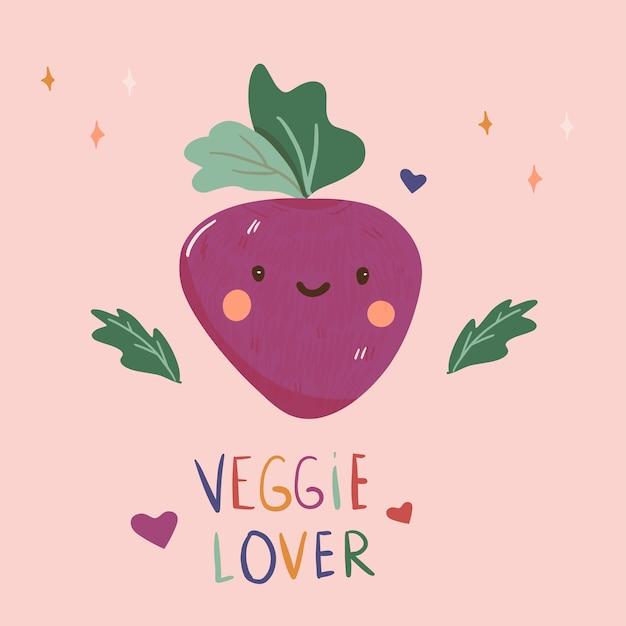 Veggie liebhaber illustration