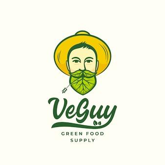 Veguy abstraktes zeichen, symbol oder logo
