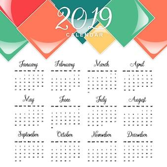Vektor 2019 kalender