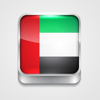 Vektor 3d stil flagge symbol der vereinigten arabischen emirate