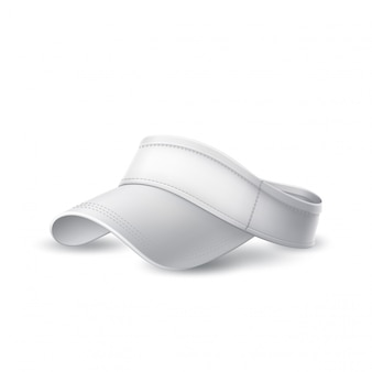 Vektor 3d tennis, badmintonkappe weiß modell