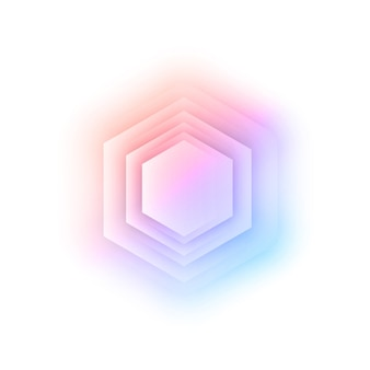 Vektor abstrakt 3d sechseckig.