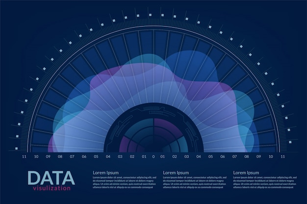 Vektor abstrakte 3d big data visualisierung.