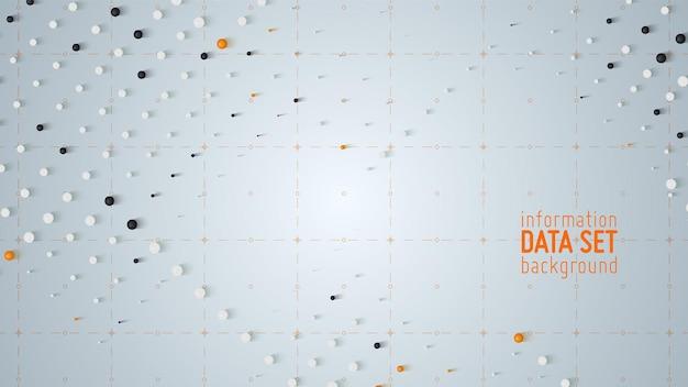Vektor abstrakte datensortierung visualisierungshintergrund