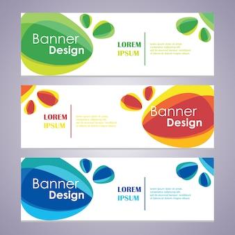 Vektor abstrakte design web banner vorlage