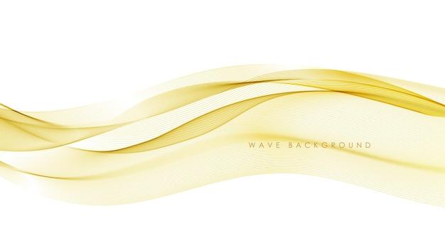 Vektor abstrakte elegante bunte fließende goldwellenlinien lokalisiert auf weißem hintergrund