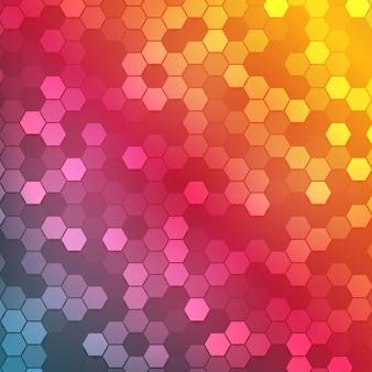 Vektor abstrakte farbe 3d hexagonal.