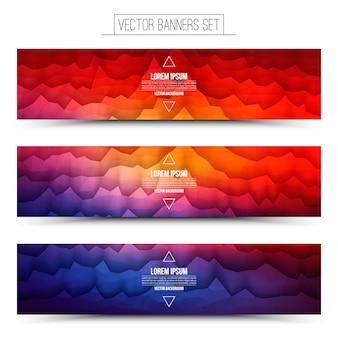 Vektor-abstrakte technologie-web-banner