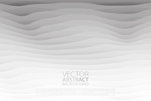 Vektor abstrakten hintergrund. hintergrund mit ebeneneffekt minimalistische textur mit gewelltem motiv.