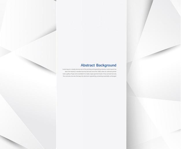 Vektor abstrakten hintergrund. weiß geometrisch
