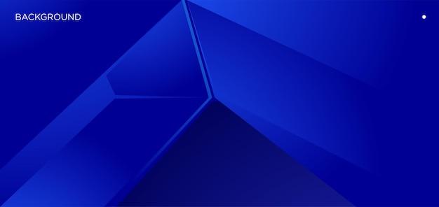 Vektor abstrakter blauer geometrischer hintergrund