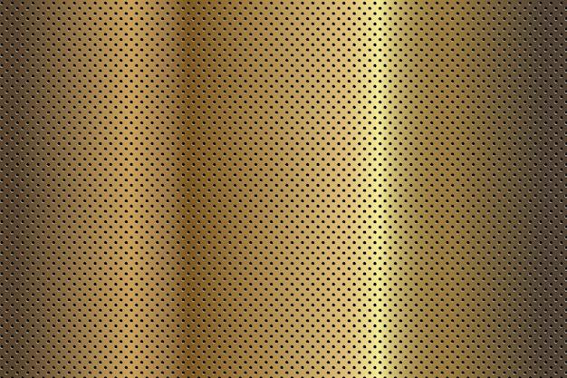 Vektor abstrakter hintergrund goldene metalgold oberfläche mit runden löchern muster für poster banner