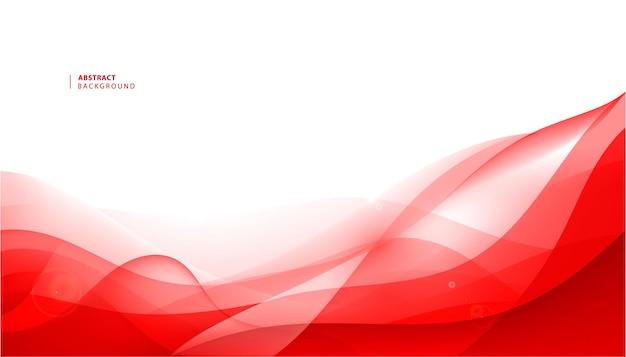 Vektor abstrakter roter gewellter hintergrund. kurvenflussbewegung.