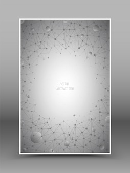 Vektor-abstrakter verbindungs-technologie-hintergrund