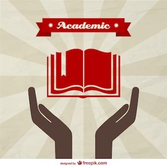 Vektor-akademischen Hintergrund-Vorlage