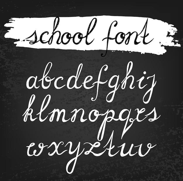 Vektor-alphabet. handgezeichnete buchstaben. schulschrift