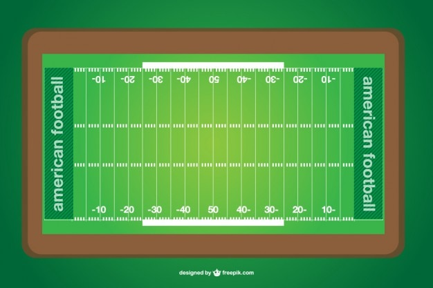 Vektor american football-feld