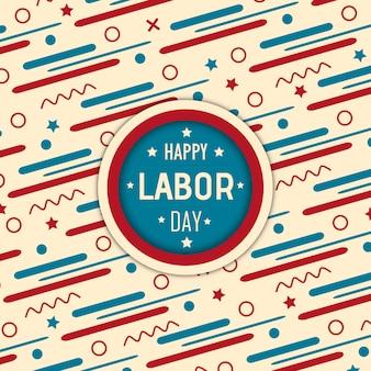 Vektor american labor day hintergrund