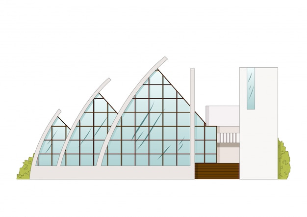 Vektor-architektur-bauprojekt