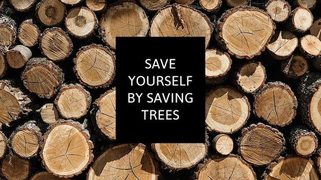 Vektor-aufforstungskampagne für umweltbewusstseinsvorlagen