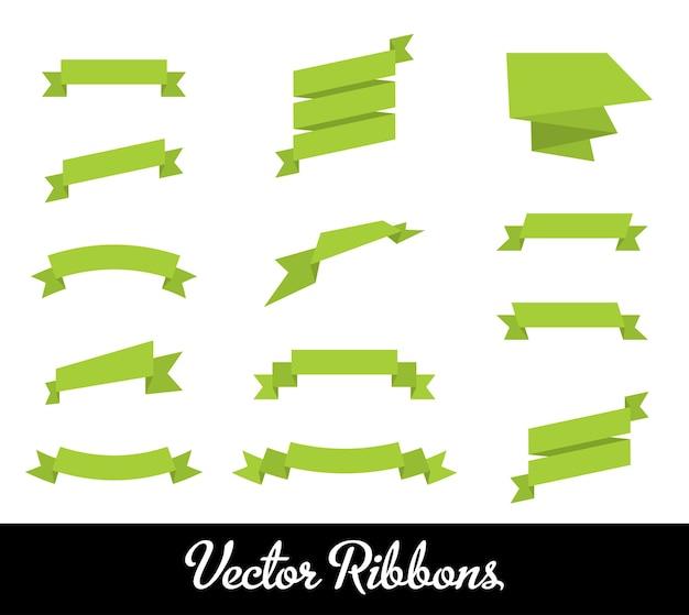 Vektor-bänder-set-sammlung