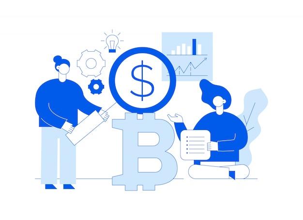 Vektor-bitcoin-investition