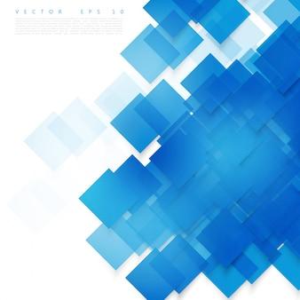 Vektor blaue quadrate. abstrakter hintergrund.