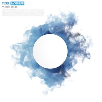 Vektor blaue wolke.