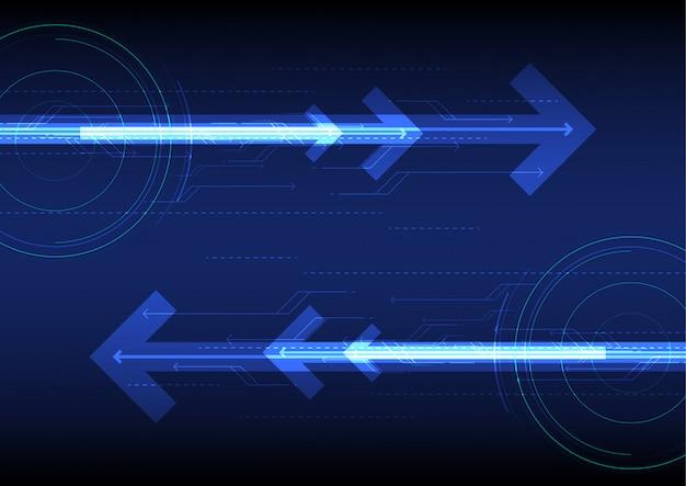 Vektor blauer zukünftiger abstrakter technologiehintergrund