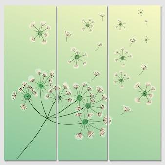 Vektor blume hintergrund. banner mit elegantem floralen element. blumenhintergrund