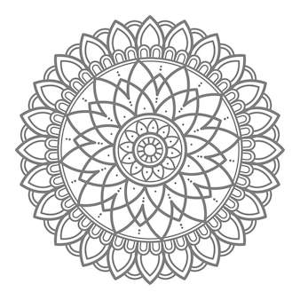 Vektor blumenmandala illustration