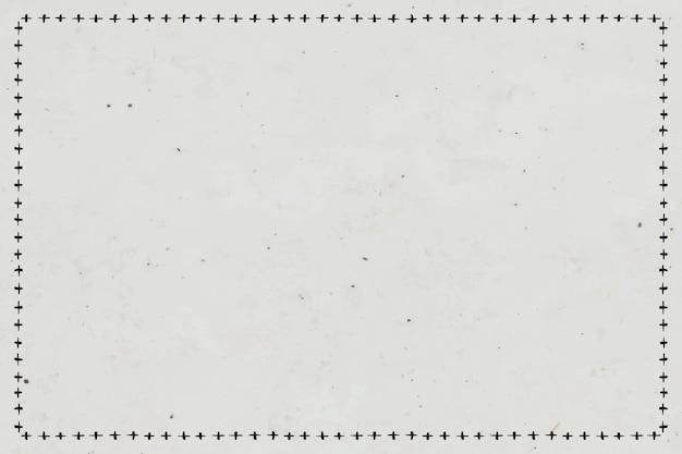 Vektor-boho-kunst-stammes-doodle-skizze-kreuz-zeichen-rahmen