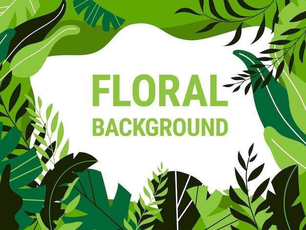 Vektor botanischer hintergrund