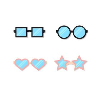 Vektor-brille-icon-set
