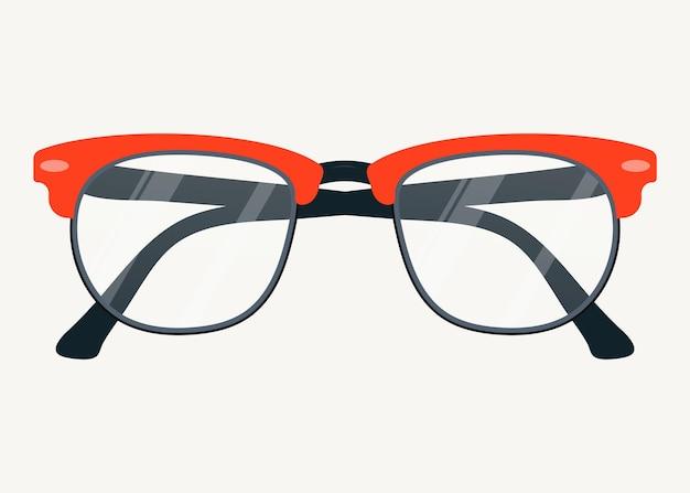 Vektor-brillen-symbol. brille