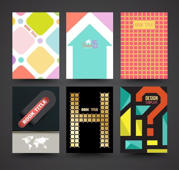 Vektor-broschüre abdeckung vorlage design-set