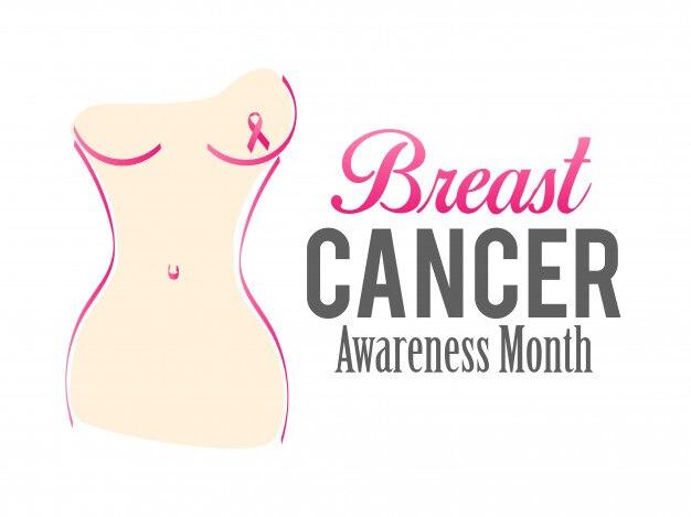 Vektor-brustkrebs-bewusstseins-plakat-entwurf