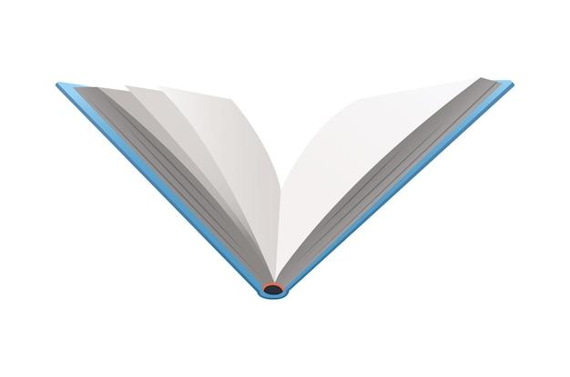 Vektor-buch. lern- oder bildungskonzept. design von leerem buch oder notizbuch. isoliertes symbol auf weißem hintergrund
