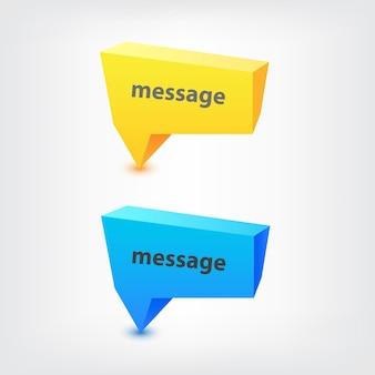 Vektor bunte geometrische 3d-sprechblasen, hintergrund, zeichen für text oder nachricht