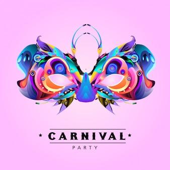 Vektor-bunte illustration der karnevalsmaske