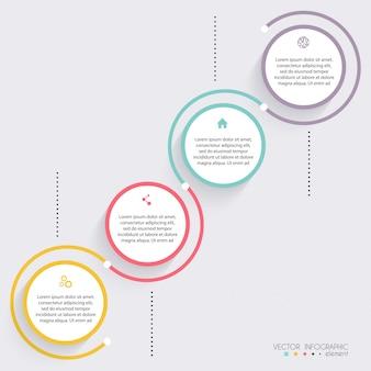 Vektor bunte infografiken für ihre geschäftspräsentationen.