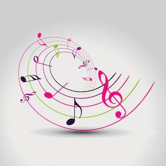 Vektor bunte musik hinweis hintergrund illustration