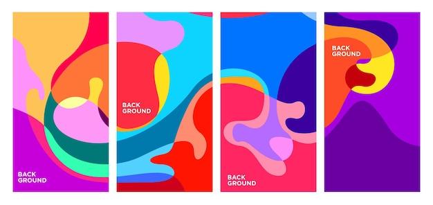 Vektor bunter abstrakter geometrischer und flüssiger hintergrund